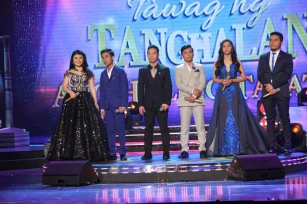 Tawag ng Tanghalan top 6 grand finalists Pauline Agupitan,Carlmalone Montecido,Sam Mangubat, Noven Belleza,Marielle Montellano,Froilan Canlas