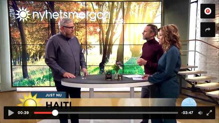 Håkons starka rapportering från Haiti på TV 4