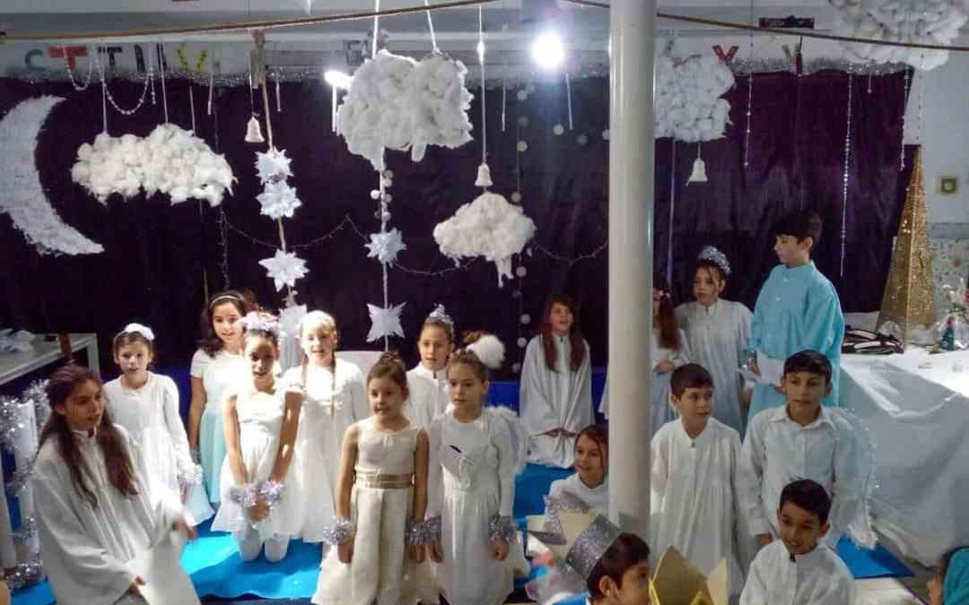 Julaktiviteter på romercenter