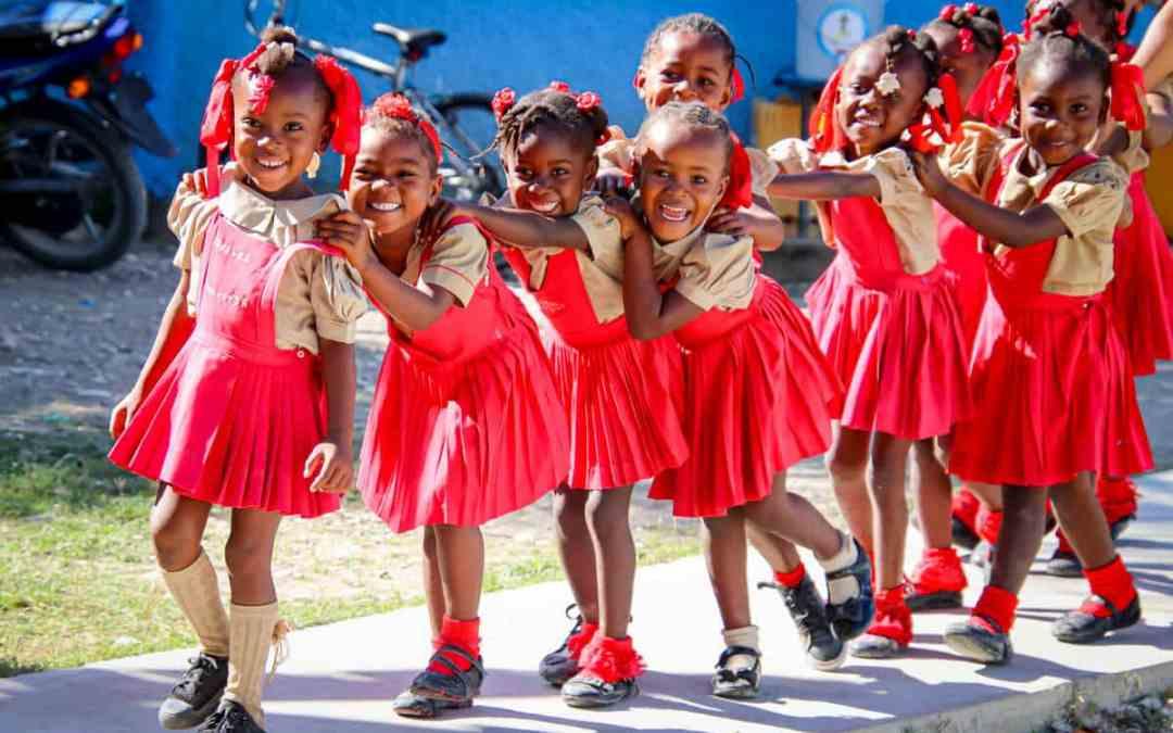 Läsåret över i Haiti.