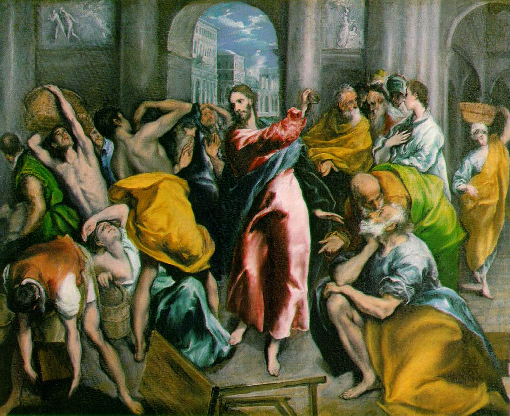 El Greco, Jesus drives the money-changers out of the temple