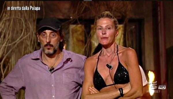 Massimo Ceccherini Nathaly Caldonazzo isola dei famosi nominations seco da puntata leader giacomo Urtis alessia Marcuzzi reality show