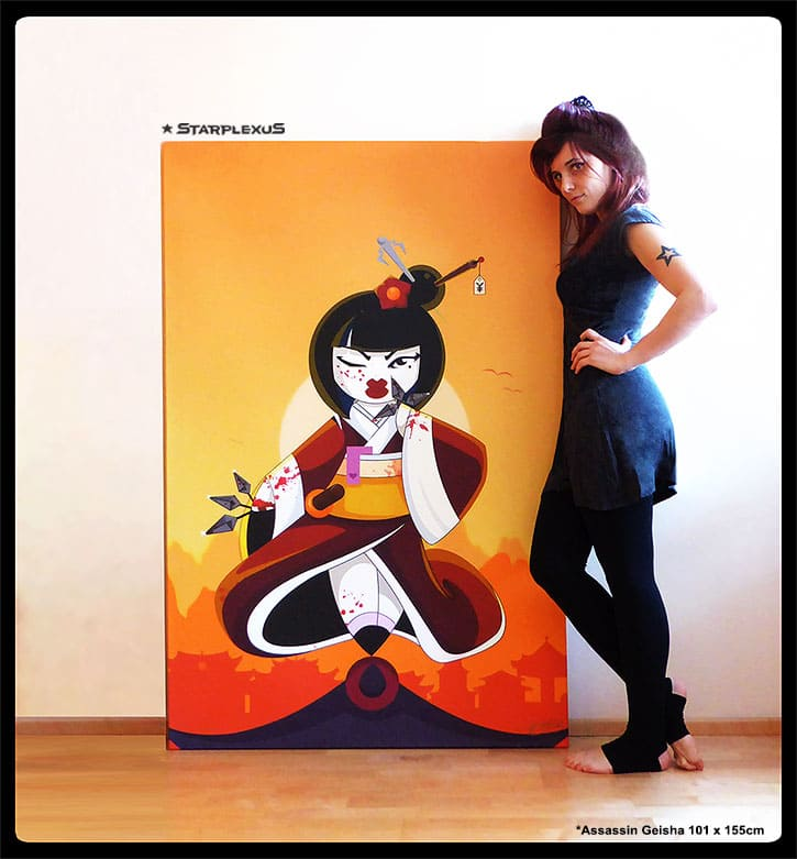 assassin geisha canvas