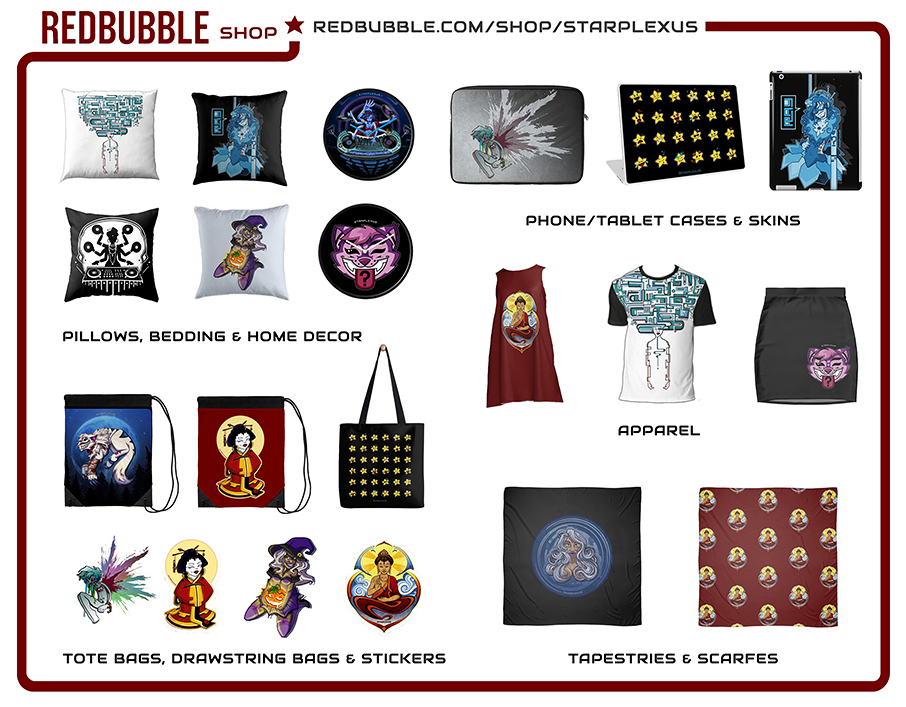 redbubble starplexus goods merch