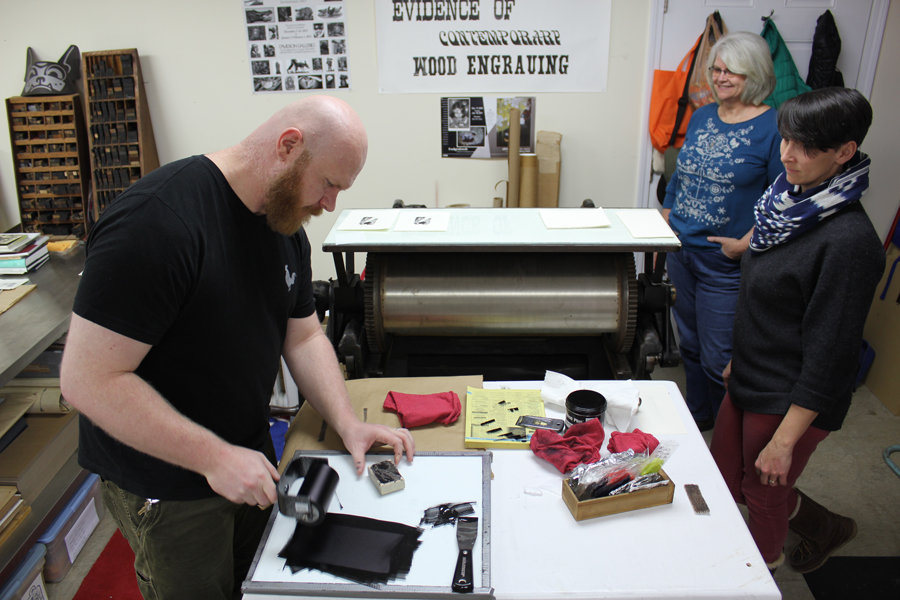 Wood engraving class