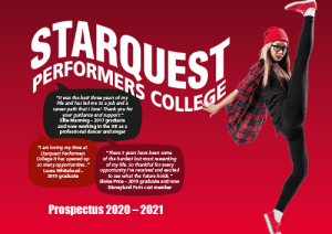 Prospectus and application form Starquest Performers College