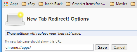New Tab Redirect Extension