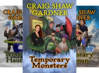 Temporary Magic trilogy covers, by Craig Shaw Gardner