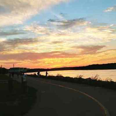 CapeCodCanalside bike trail sundown