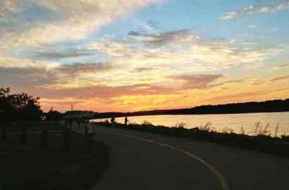 CapeCodCanalside bike trail sundown