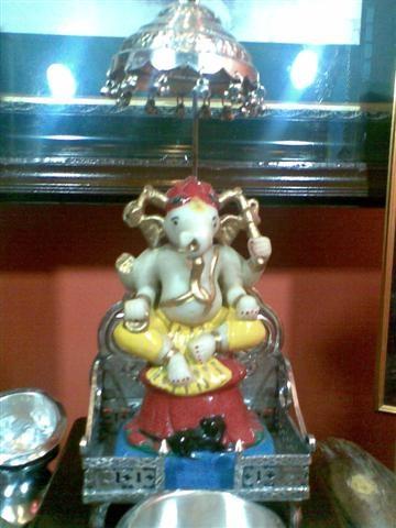 Lord Ganesha Statue in Tarkhad's home