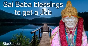 Shirdi Saibaba blessings to get a job