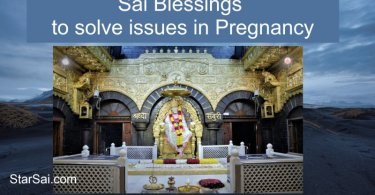 Saibaba blessings to solve issues in Pregnancy