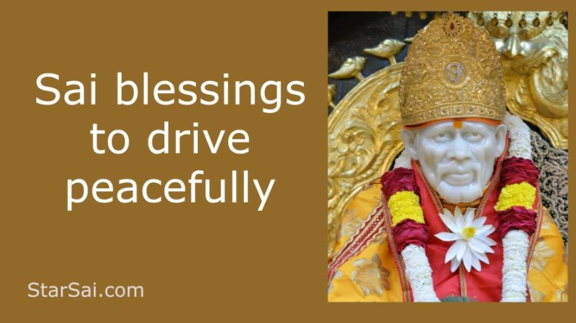 Saibaba blessings to drive car