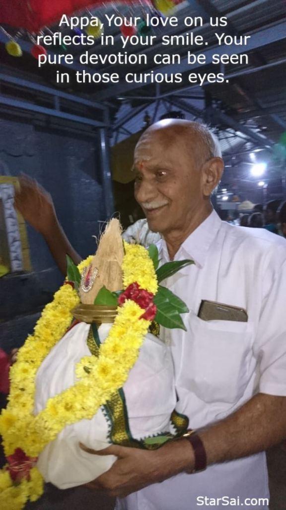 My Guru Chandrasekaran at Temple festival.