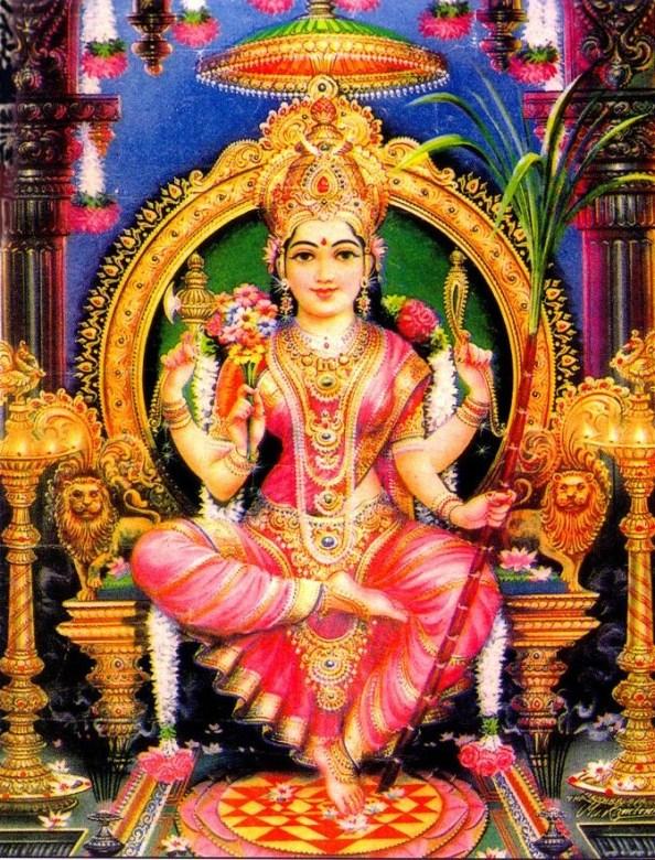 Hindu Goddess Lalitha Tiripurasundari