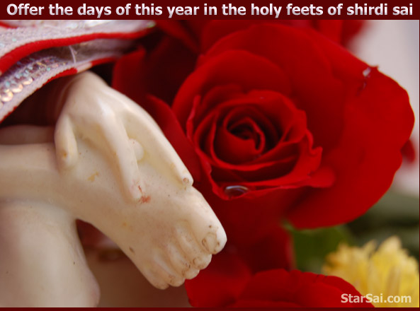 Offer your body mind and soul in the holy padhukas of shirdi saibaba