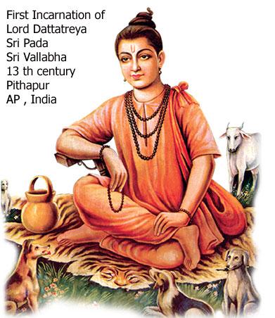 sri pada sri vallabha dattatreya incarnation
