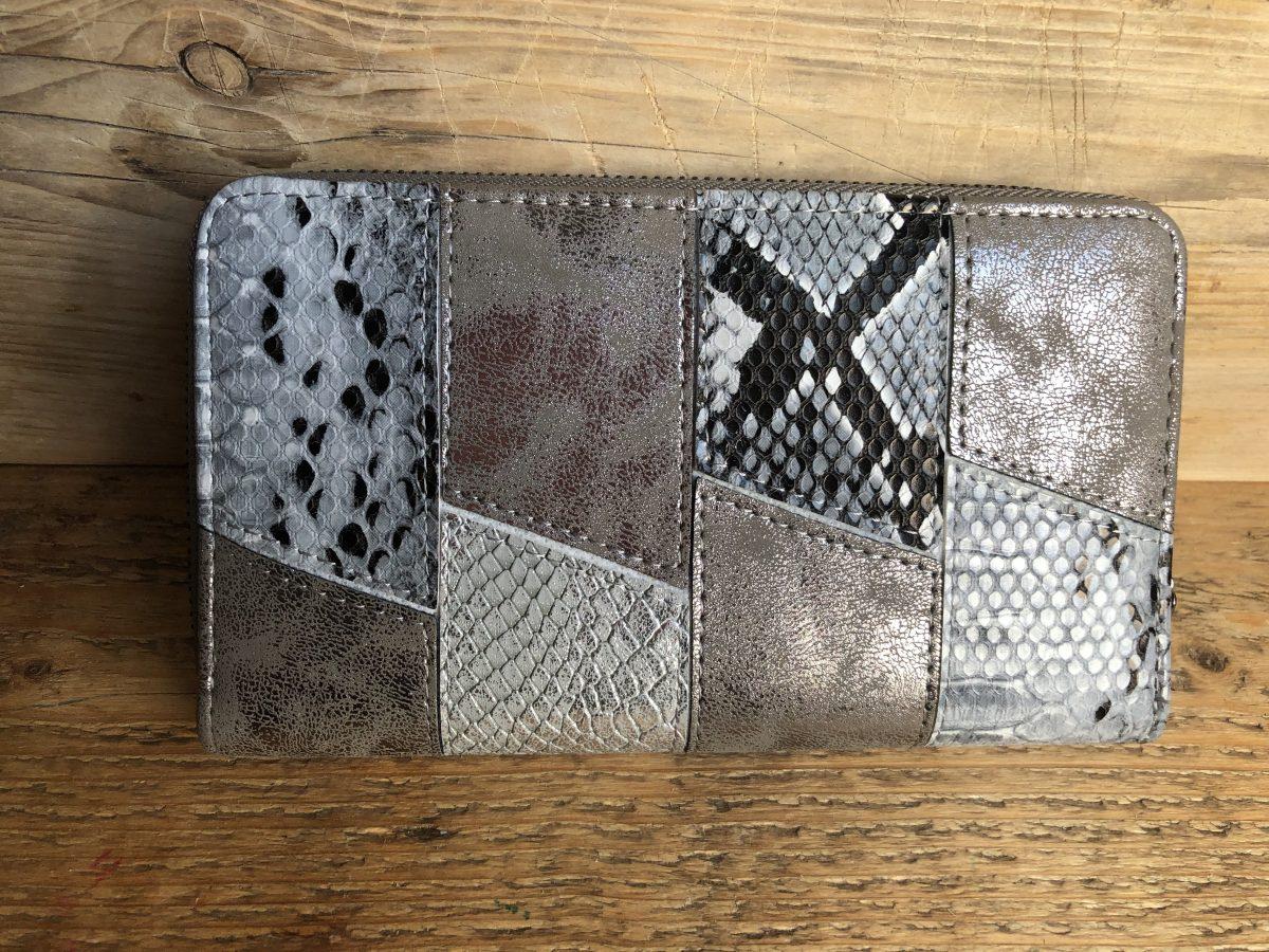 Slangenprint portemonnee Grijs/zilver