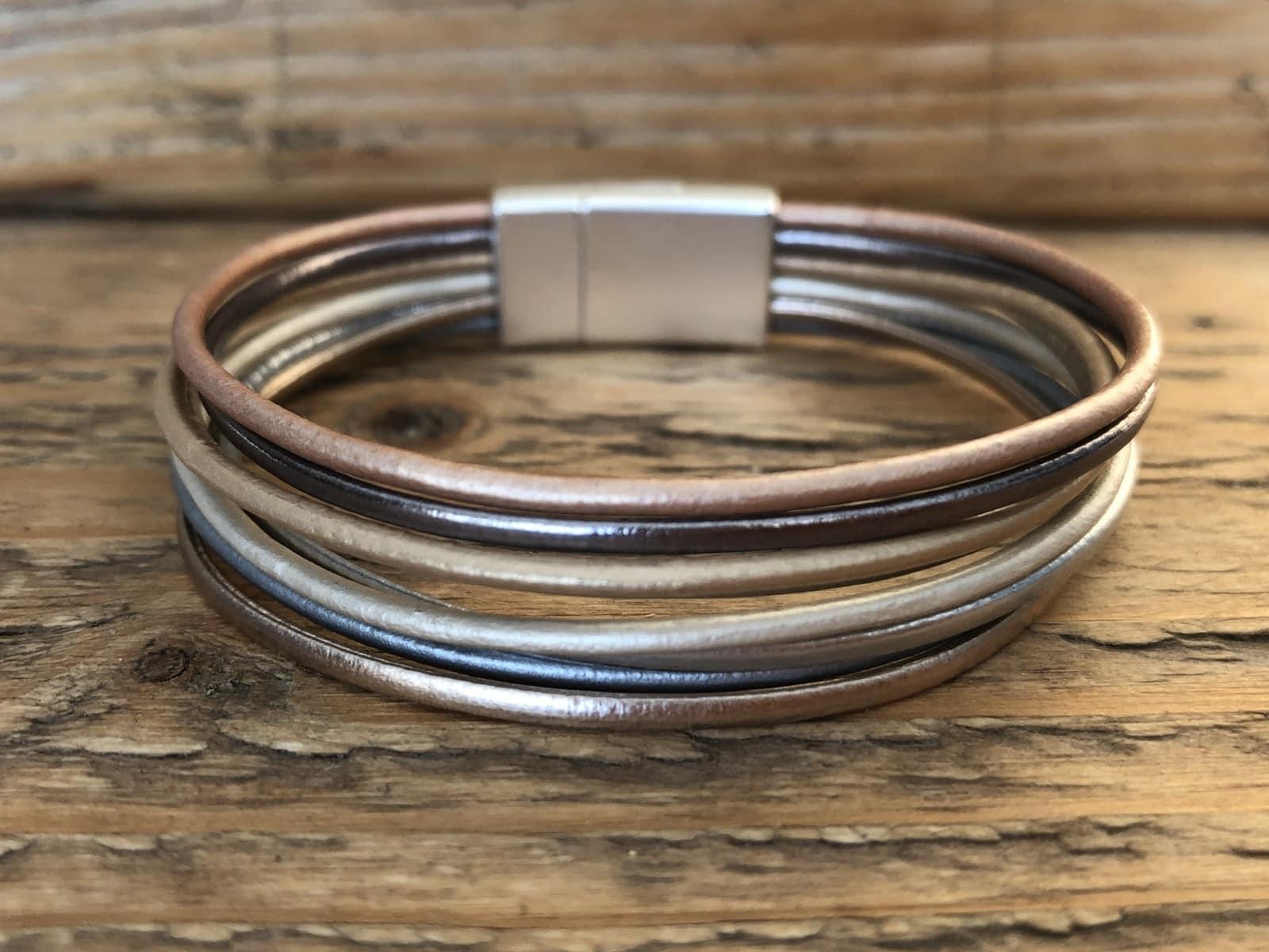 Armband in goud/zilver/rosé goud