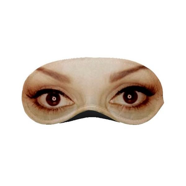 sleeping mask with eyes print featured sleeping mask