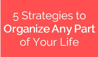 5 Proven Strategies to Organize Any Part of Your Life