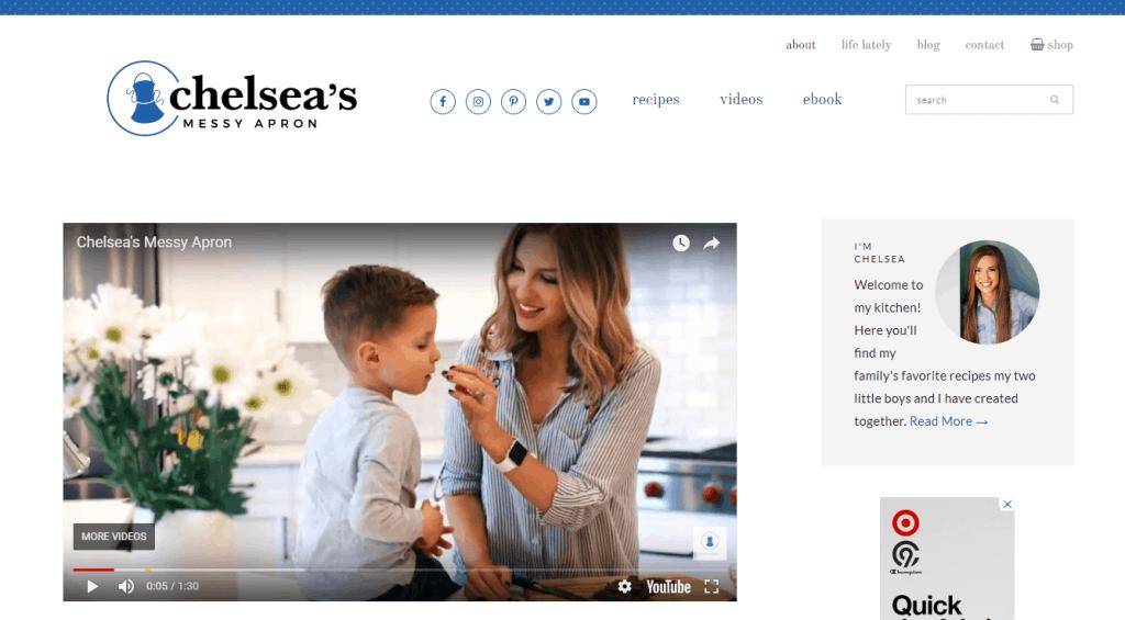 blogging for moms - chelsea messy apron