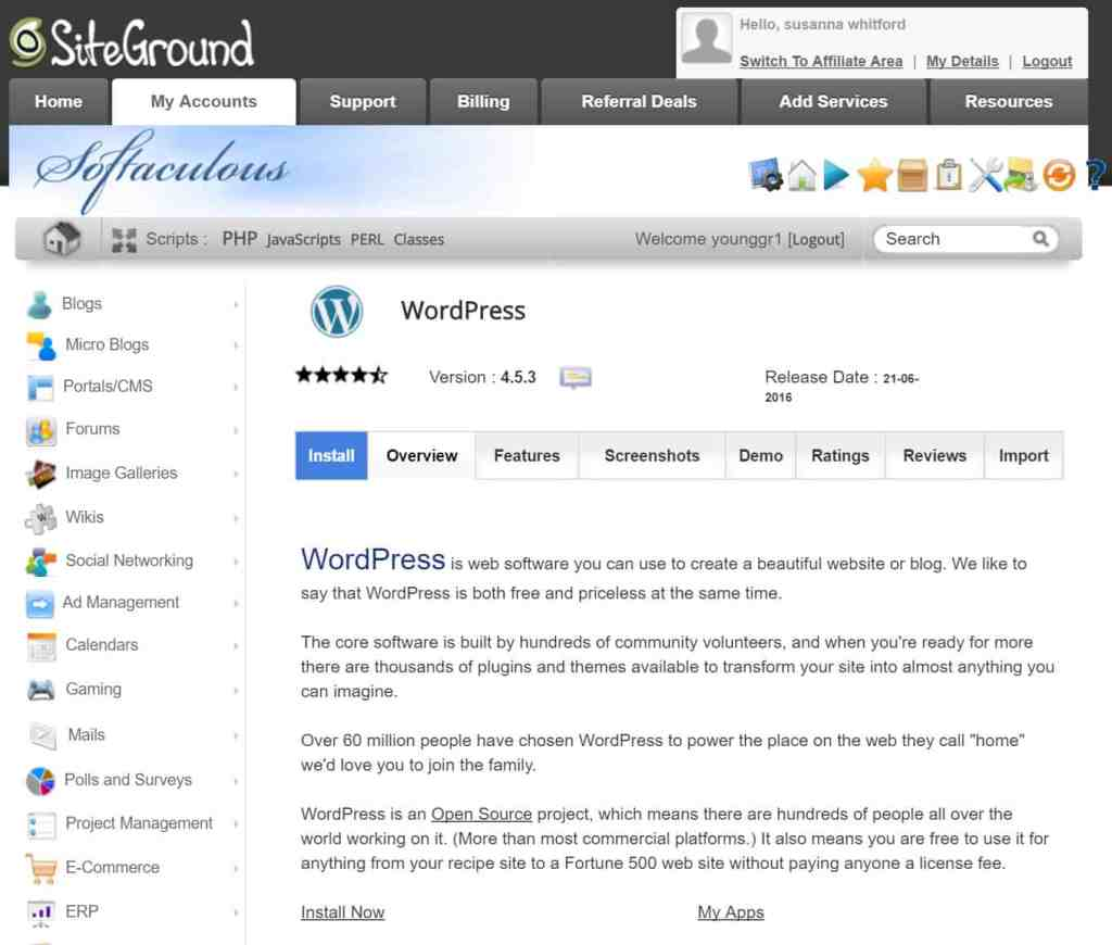 how to start a blog with siteground and wordpress 3