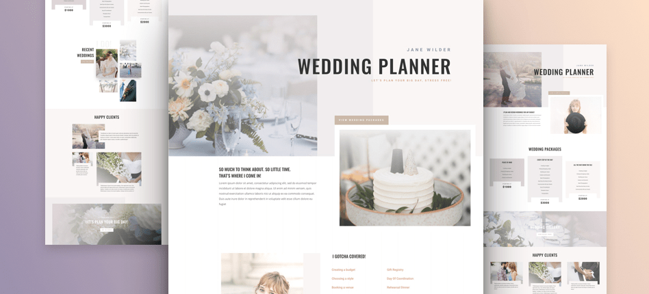divi layout wedding