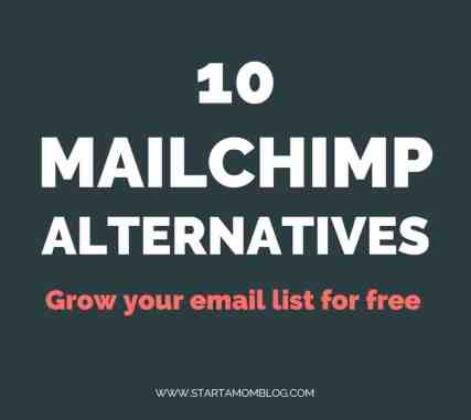 Mailchimp alternatives - free email marketing software startamomblog.com