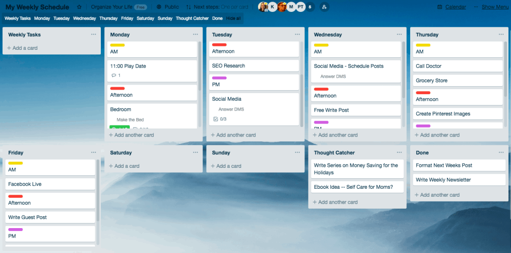Trello-Boards-Bloggers-Weekly-Schedule