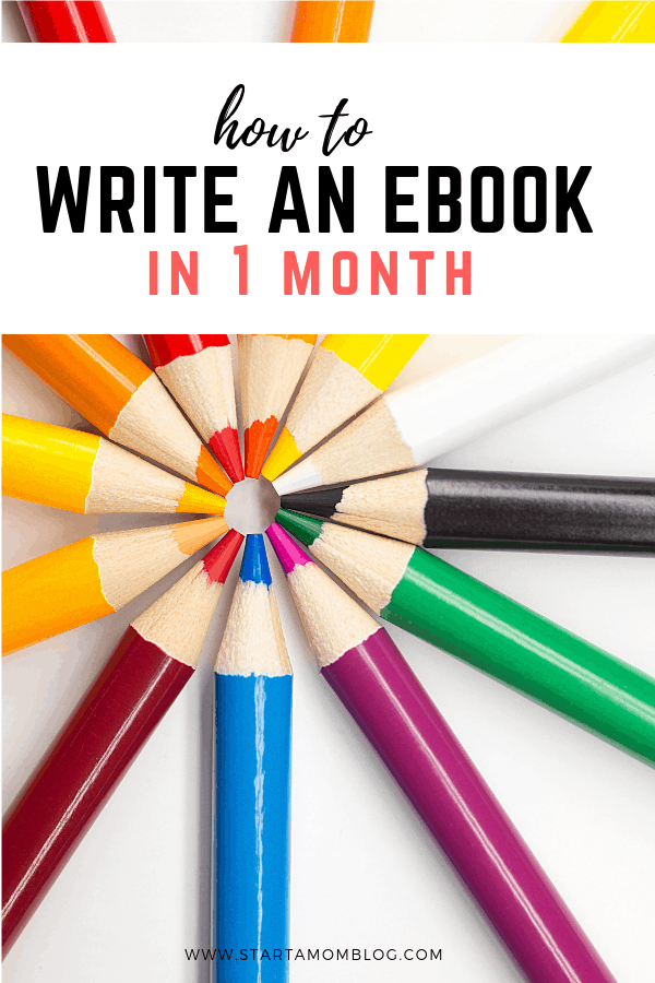 How to write an ebook in one month
