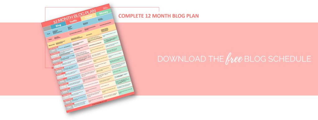 4 PERFECT SCHEDULE FOR BLOGGING
