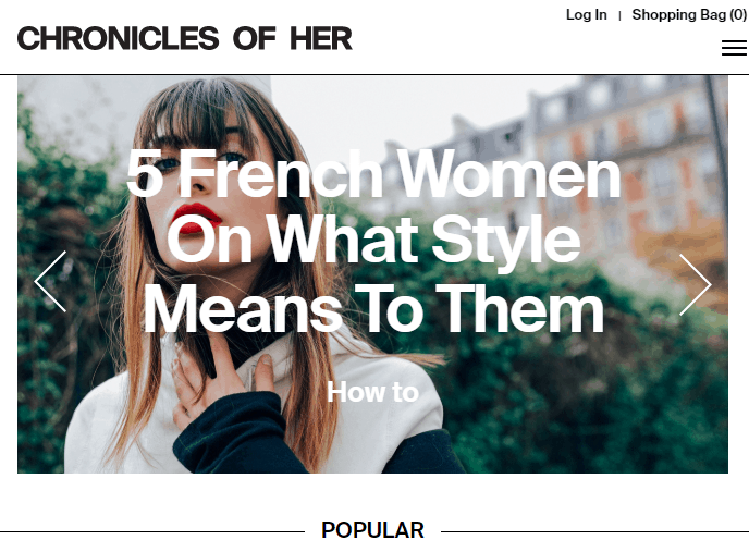 popular fashion blog