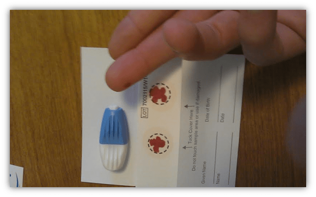 arcticmed fatty acid test finger prick
