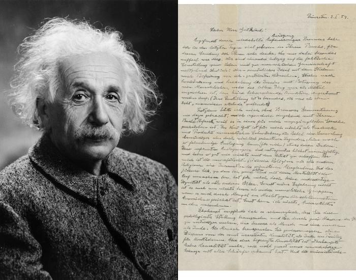 Lettre d'Albert Einstein sur Dieu