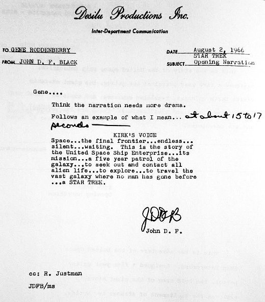 b6aa8acc7f657b3d595005d892a4225b Read The Awkward First Drafts Of The Star Trek Opening Monologue