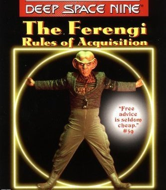 """Star Trek: Deep Space Nine: The Ferengi Rules of Acquisition"" Review by Deepspacespines.com"