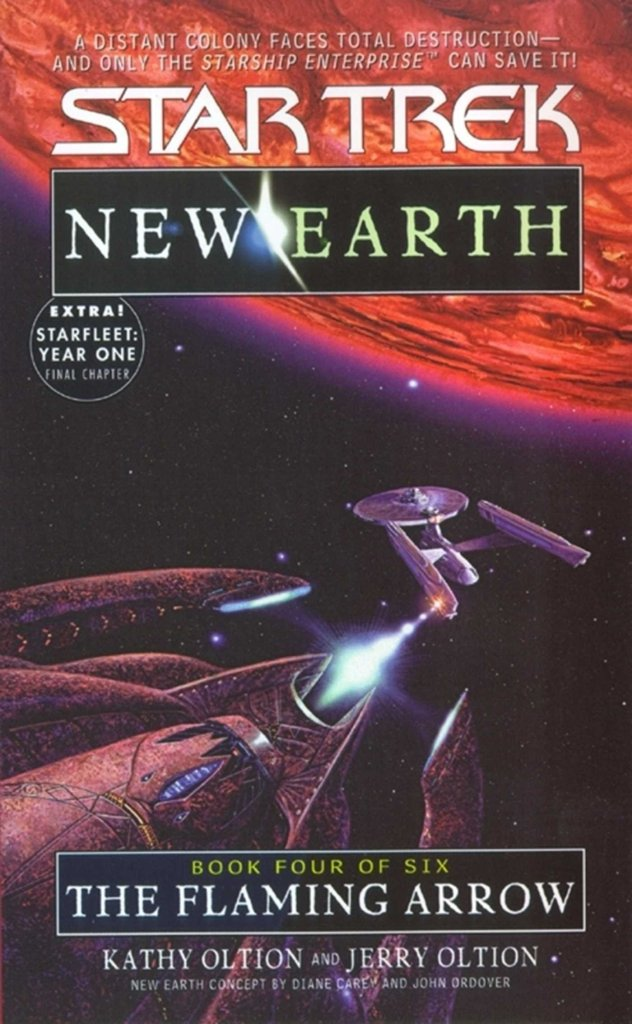 Star Trek: New Earth: Book 4: The Flaming Arrow Review by Treklit.com