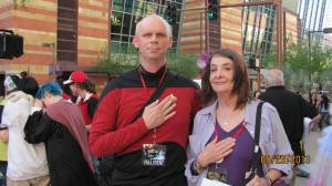Me with a Starfleet Officer