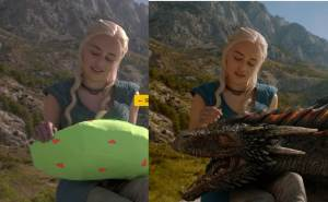 GoT: Prop dragon vs CGI