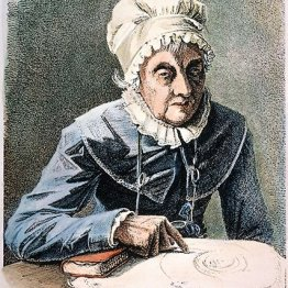 """Caroline Herschel (1750 – 1848): Se describía a sí misma como la """"Cenicienta de la familia"""". Cuando su hermano William cambió su carrera musical por la astronomía, ella lo siguió. Se convirtió en una brillante astrónoma, descubriendo nebulosas y cúmulos estelares. Fue la primera mujer en descubrir un cometa y la primera en hacer que la Royal Society publicara su trabajo, entre otros logros."""