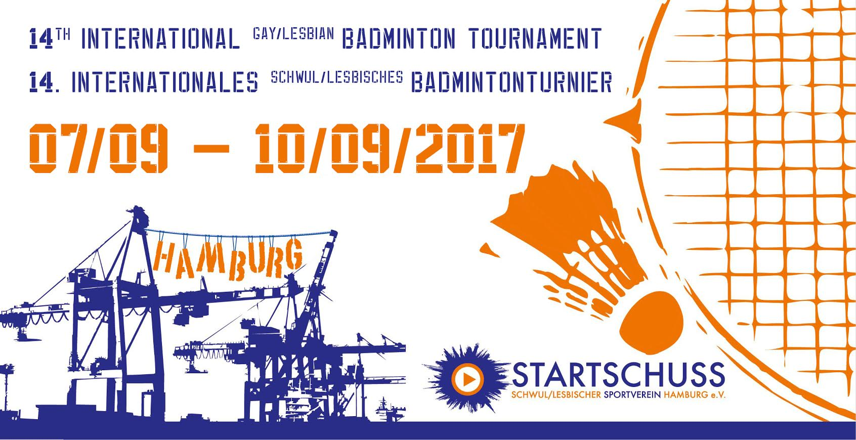 Flyer Badminton Tournament Hamburg 2017 Agenda & Locations