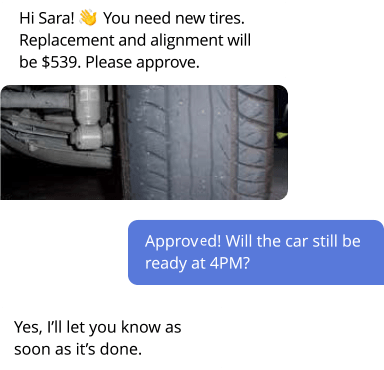 auto service messaging