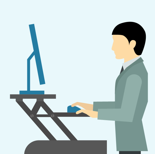 Person Working at Standing Desk Converter