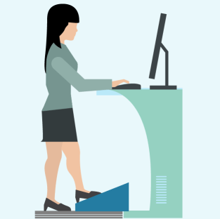 Person at Standing Desk