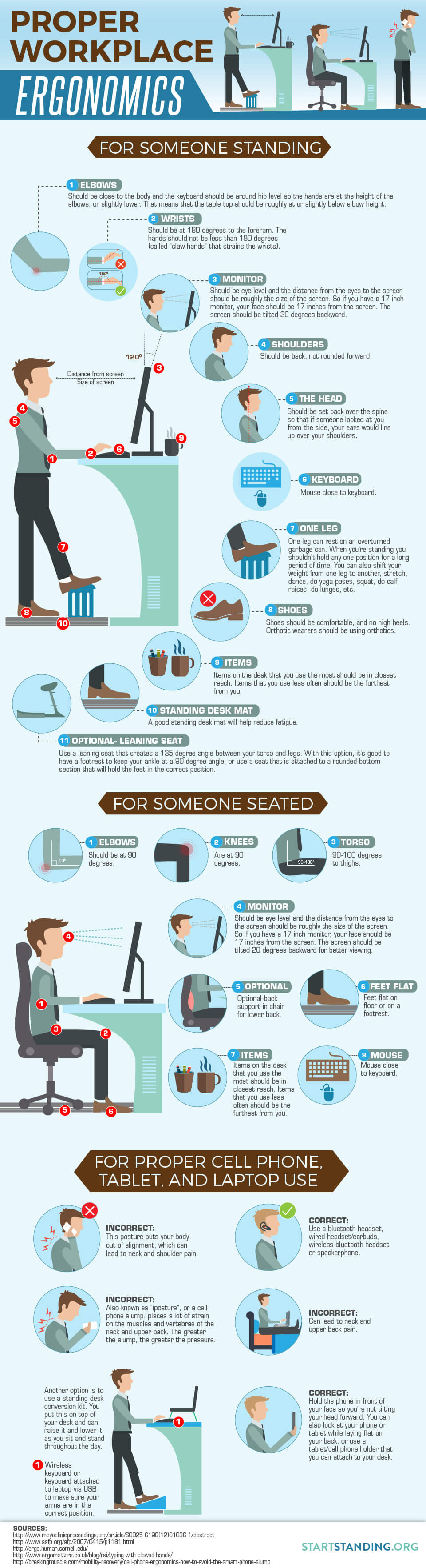 Guide to Proper Sitting and Standing Desk Ergonomics - Start ...