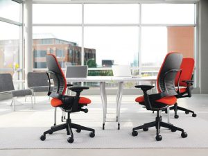 Steelcase Leap with headrest chair for lower back pain