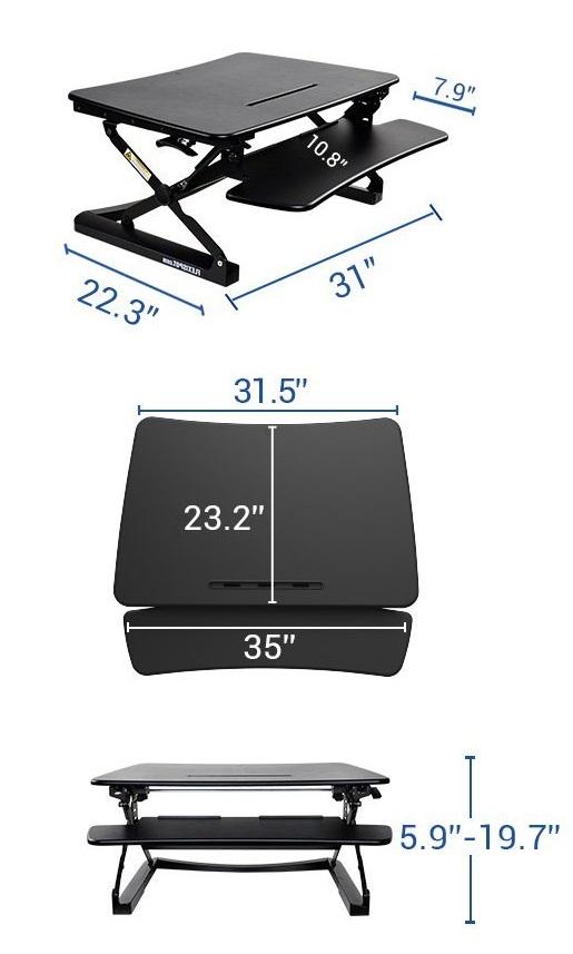 Flexispot M2B dimensions