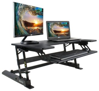Adjustable Z Design Standing Desk Converter Example